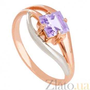 Золотое кольцо с аметистом Жанна VLN--112-1433-4