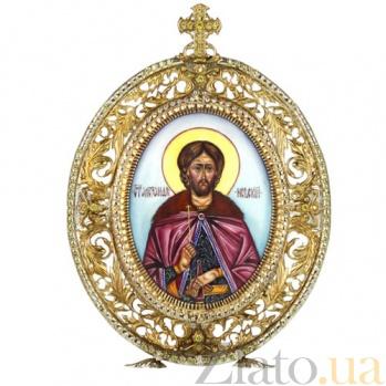 Серебряная икона с образом Святого Благоверного князя Александра Невского 2.78.0121