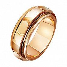 Золотое обручальное кольцо Классический романс