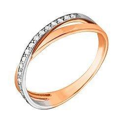 Золотое кольцо с фианитами 000056933