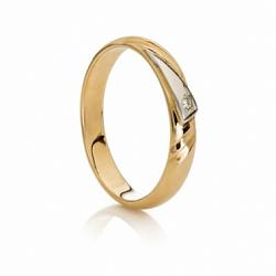 Кольцо обручальное с бриллиантом Princess
