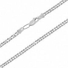 Серебряная цепочка родированная Рембо, 4мм