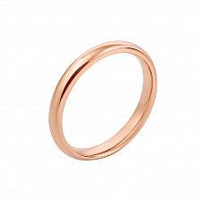 Обручальное кольцо Классика в красном золоте