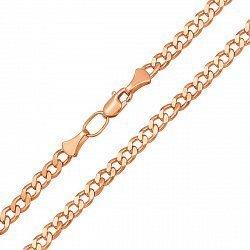 Цепочка из красного золота в панцирном плетении. 4мм 000133571