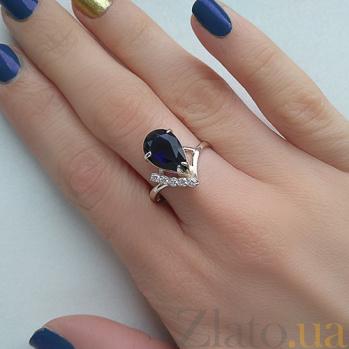 Серебряное кольцо Сюзанна с альпинитом и фианитами 000030712