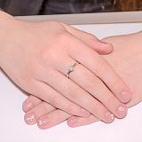 Кольцо из белого золота Дамиани
