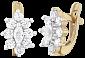Позолоченные серебряные серьги с фианитами Сонал SLX--С3Ф/011