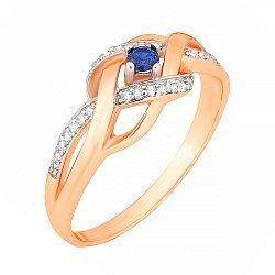 Серебряное кольцо с цирконием 000028450