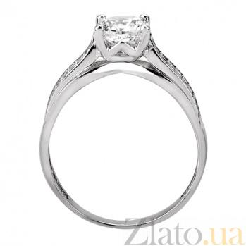 Золотое кольцо с белым цирконием Флоренция SUF--153383б