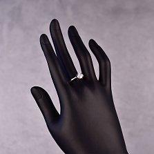 Серебряное кольцо Жанин с кристаллом циркония