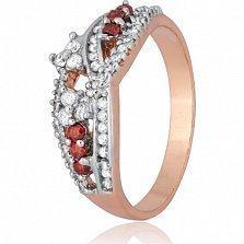 Серебряное кольцо Интизора с фианитами