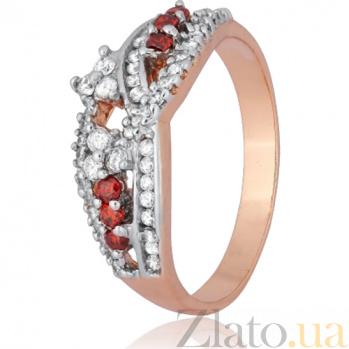 Серебряное кольцо Интизора с фианитами 000028205