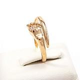 Золотое кольцо с фианитом Новая жизнь
