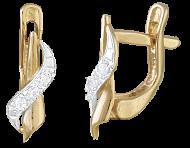 Позолоченные сережки из серебра с цирконием Лиора