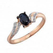 Золотое кольцо с сапфиром и бриллиантами Делайла