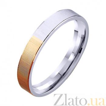 Обручальное кольцо из комбинированного золота Единство душ TRF--421338