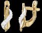 Позолоченные сережки из серебра с цирконием Лиора  SLX--С3Ф/048