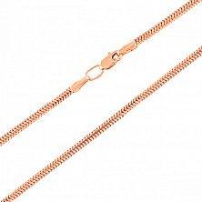 Золотая цепочка Круглый снейк в красном цвете, 1мм