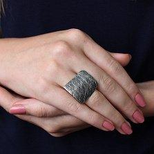 Серебряное кольцо Адажио с чернением