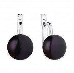 Серебряные серьги с жемчугом 000148140
