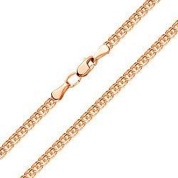 Цепочка из красного золота в плетении бисмарк с алмазной гранью, 3,5мм 000001523