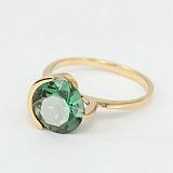 Золотое кольцо Клэр с синтезированным аметистом