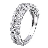 Кольцо из белого золота с бриллиантами Adel