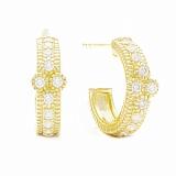 Серьги Ashkenazi из желтого золота с бриллиантами