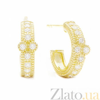 Серьги Ashkenazi из желтого золота с бриллиантами E-JR-E-d24