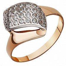 Золотое кольцо Тайная страсть с фианитами