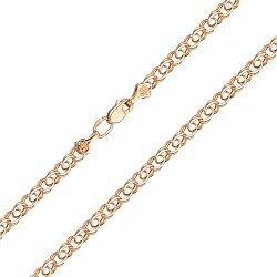 Золотой браслет в свободном плетении, 3мм 000056963