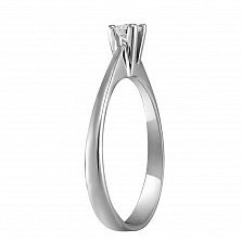 Кольцо из белого золота Чаровница с бриллиантом