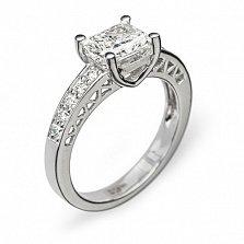 Кольцо из белого золота с бриллиантами Пальмира