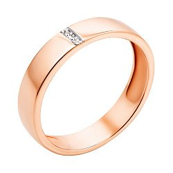 Кольцо из красного золота с бриллиантами 000103659