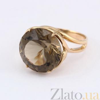 Кольцо из красного золота с раухтопазом Румия VLN--112-1341-2