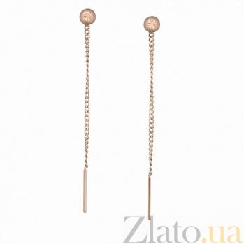 Золотые серьги-цепочки Имидж LEL--80017