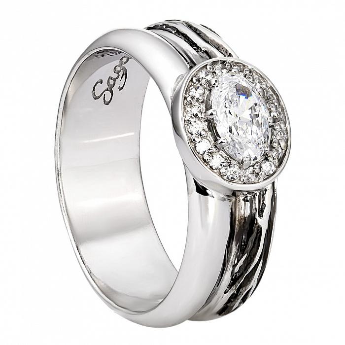 Серебряное кольцо с цирконием Маринэ 000030091