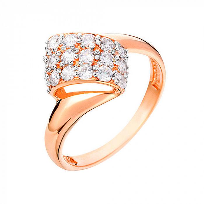 Золотое кольцо с фианитами Драгоценный узелок SUF--140265