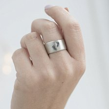 Серебряное кольцо Ножки с чернением