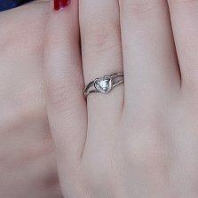 Серебряное кольцо Признание с цирконием