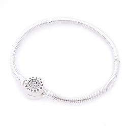Серебряный браслет для шармов с фианитами в стиле Пандора 000112556