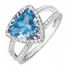 Серебряное кольцо Горизонт с топазом