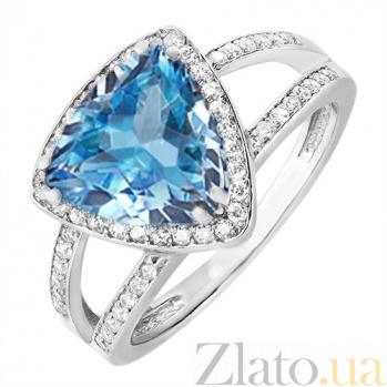 Серебряное кольцо Горизонт с топазом 101275