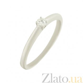 Золотое кольцо с бриллиантом Ноэми 1К071-0001