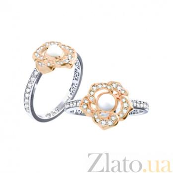 Золотое кольцо с кахолонгом и бриллиантами Amoroso 000029675