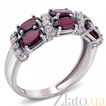 Серебряное кольцо с родолитом Фиолент