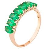 Золотое кольцо с изумрудами Зеленый омут