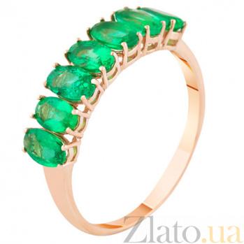 Золотое кольцо с изумрудами Зеленый омут KBL--К1859/крас/изум