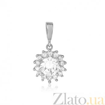 Серебряный подвес Джахуар с кристаллами циркония 000028835