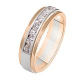 Золотое обручальное кольцо с бриллиантами Елизавета